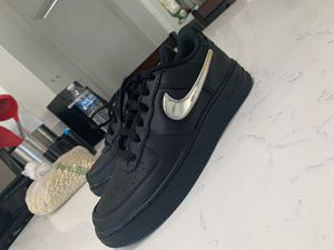 black Air Force 1 metallic gold for Sale in La Puente, CA