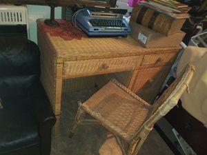 Nice wicker desk for Sale in Oakland, MD