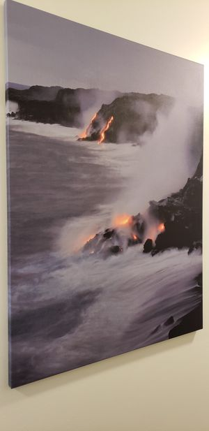 Canvas 40x60 lava flow Big Island Hawaii for Sale in Rockville, MD