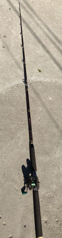 Abu Garcia fishing rod pole with penn conventional reel saltwater ocean for Sale in San Bernardino, CA