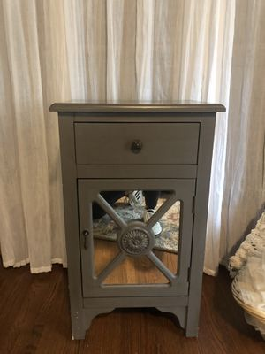 Grey nightstand table for Sale in Tulsa, OK