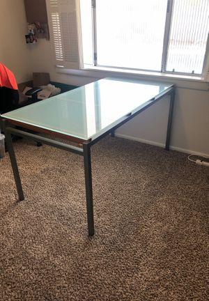 Glass top modern desk for Sale in Phoenix, AZ