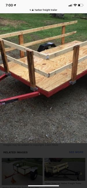 Foldable trailer with gates for Sale in Scottsdale, AZ