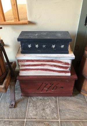Wooden stack boxes for Sale in Fall River, MA