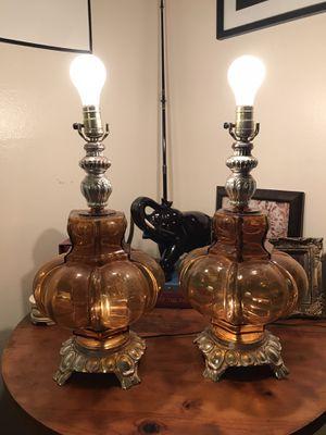 Amber vintage lamps for Sale in Winter Park, FL