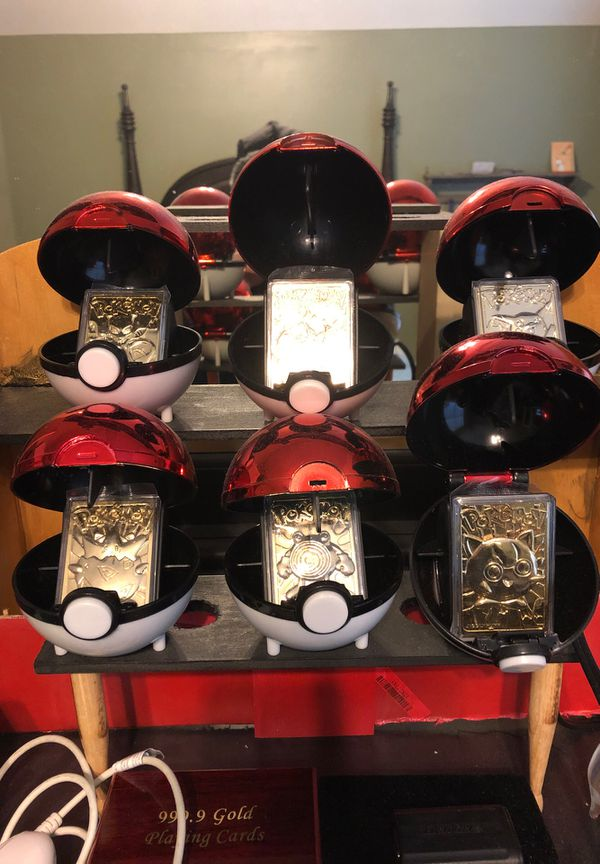 Complete collection of 23k gold plated Pokemon Cards