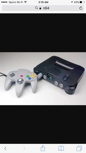 N64 console with wires and controller- classic gaming for Sale for sale  Lyndhurst, NJ