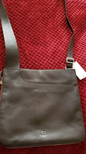 Ladies Leather brown messenger bag for Sale in West Lafayette, IN