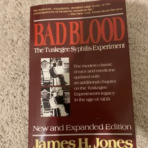 BAD BLOOD: The Tuskegee Syphilis Experiment for Sale in Sykesville, MD