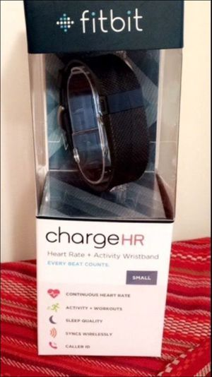 Fitbit Charge HR- black/ small- new for Sale in Raleigh, NC