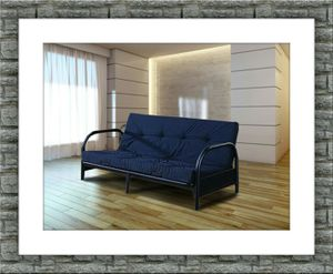 Black futon frame free mattress and delivery for Sale in Crofton, MD