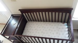 Wooden Crib with Changing Table Attached for Sale in Houston, TX