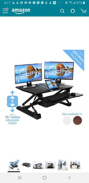 Airlift Pneumatic Sit-to-Stand Adjustable Height Standing Desktop Converter Desk for Sale in Las Vegas, NV