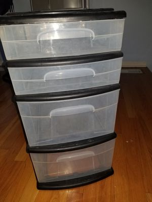 4 drawer $15& 3 drawer $10 storage container for Sale in Buffalo Grove, IL