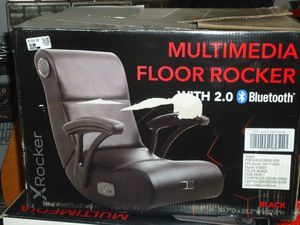 X Rocker Gaming Rocking Chair With Bluetooth Audio System and Arms - Black for Sale in Fort Worth, TX