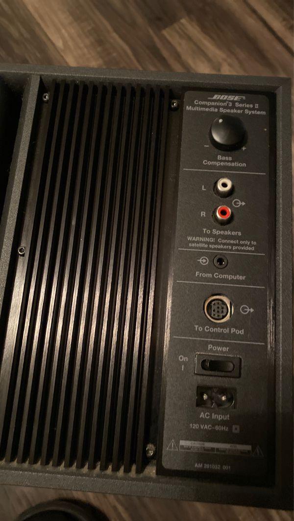 Bose base speaker