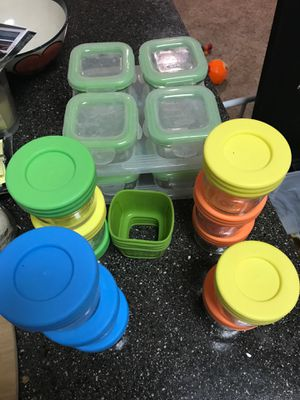 Glass food containers baby food storage freezer safe for Sale in Scottsdale, AZ
