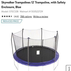 Sky Walker Trampoline for Sale in Hemet, CA