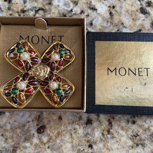 Monet Jeweled Cross Brooch for Sale in Bradenton, FL