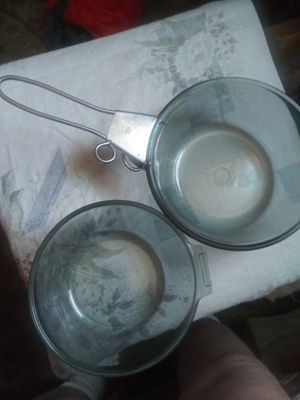 "2 Pyrex ""flame"" pans for Sale in Pawtucket, RI"