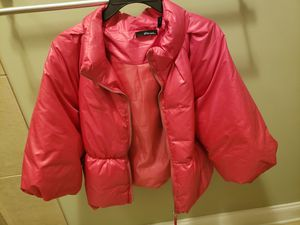 womens large Hot Pink puffy jacket for Sale in Greer, SC
