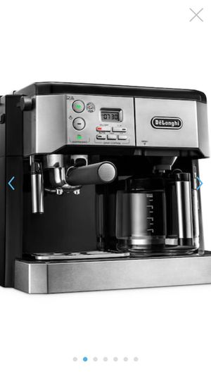 De' Longhi All-in-one Cappuccino, Expresso and coffee maker/ stainless steel/ used few times only and for sale due to relocation/ Regular price: $270 for Sale in Sarasota, FL