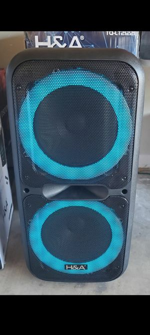"New 2x12 "" woofers 8,800 watts Bluetooth rechargeable, usb, sd, tf, fm, wireless mic, remote control and guitar input for Sale in Riverside, CA"