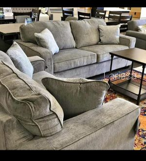 🍻New Ashley Alloy/Gray Living Room Set / Couches☆Sofa & Loveseat included☆Chair and Ottoman sold separately💥39 DOWN PAYMENT🍻 for Sale in Houston, TX