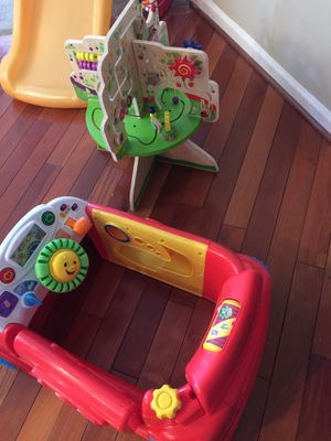 Toy car and Wooden baby play cube for Sale in Ashburn, VA