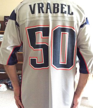 Reebok Patriots NFL Jerseys, Large Size, # 50 Vrabel, One of the Patriot Greats ! for Sale in Pinellas Park, FL