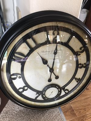 sterling & noble large wall clock for Sale in Blaine, WA