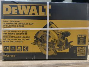 "DEWALT circular saw with electric brake and 7 1/4"" blade included for Sale in Olympia, WA"