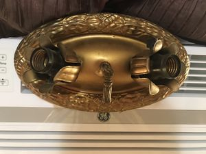 1920s antique gold deco light fixture for Sale in Wichita, KS