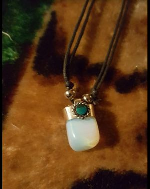 Moon Stone unisex adjustable necklace with turquoise from Machu Picchu Peru for Sale in Los Angeles, CA