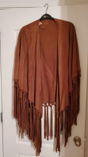 Reba fringe leather cape for Sale in Douglasville, GA