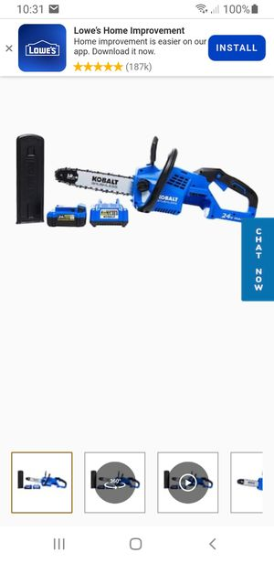 Kobalt cordless chainsaw for Sale in Los Angeles, CA