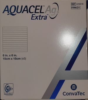 Aquacel AG extra 6x6 woundcare sheets. Box w/ 5 per box for Sale in Hampton, VA