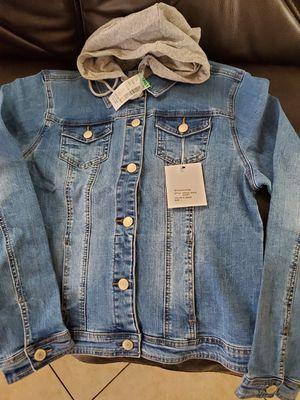 Hoodie denim jacket for Sale in Bell Gardens, CA