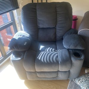 Blue/Gray Rocking Recliner for Sale in Washington, DC
