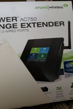 Amped Wireless High Power Touch Screen AC750 Wi-Fi Router (TAP-R2) for Sale in Fontana, CA
