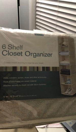 6 shelf hanging closet organizer for Sale in Woodbridge, VA