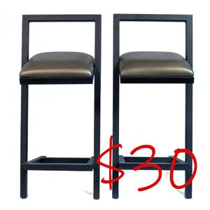 Sturdy and sleek 2 pc industrial style pub or bar stools for Sale in Phoenix, AZ