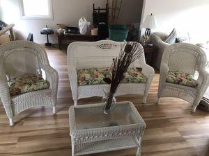 *NEW*white resin wicker patio set! for Sale in Taunton, MA
