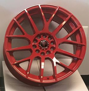 """Brand New 18"""" DT49 5x114.3Red Wheels for Sale in Hialeah, FL"""