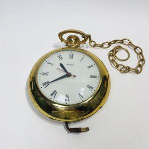 "Vtg United Clock Corp Pocket Watch Electric Wall Clock Model 370 8"" Diameter for Sale in Tenino, WA"