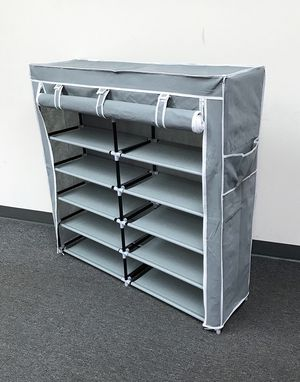 "New $25 each 6-Tiers 36 Shoe Rack Closet Fabric Cover Portable Storage Organizer Cabinet 43x12x43"" for Sale in Whittier, CA"