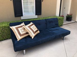 Blue Fold Out Couch for Sale in Fullerton, CA