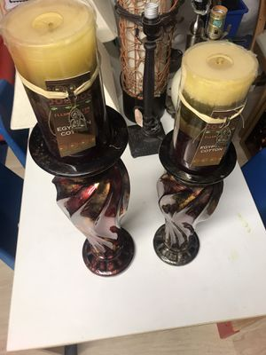2 Candles, Candle Sticks & Vase - $15 for Sale in San Leandro, CA