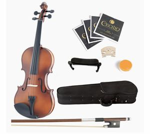 Mendini 4/4 MV300 Solid Wood Satin Antique Violin with Hard Case for Sale in Oceanside, CA