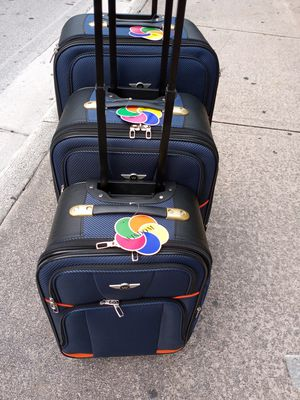 Travel Suitcase 3 Pieces 4 wheels Spinner new top quality by wisdom Waterproof Expandable for Sale in Miami, FL